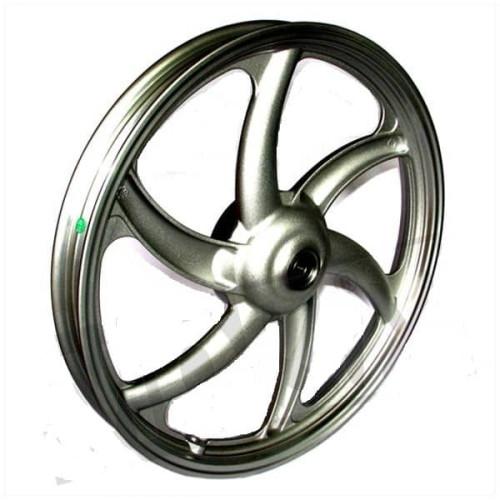 achtervelg, achterwiel wiel tomos a35 grijs zilver